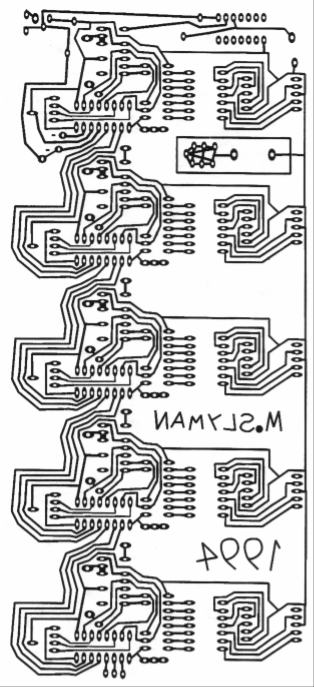 Counter/Comparator circuit printed circuit board (