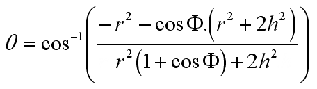 General Algebraic Solution to the Angle between Surfaces of a Pyramid, Simplified
